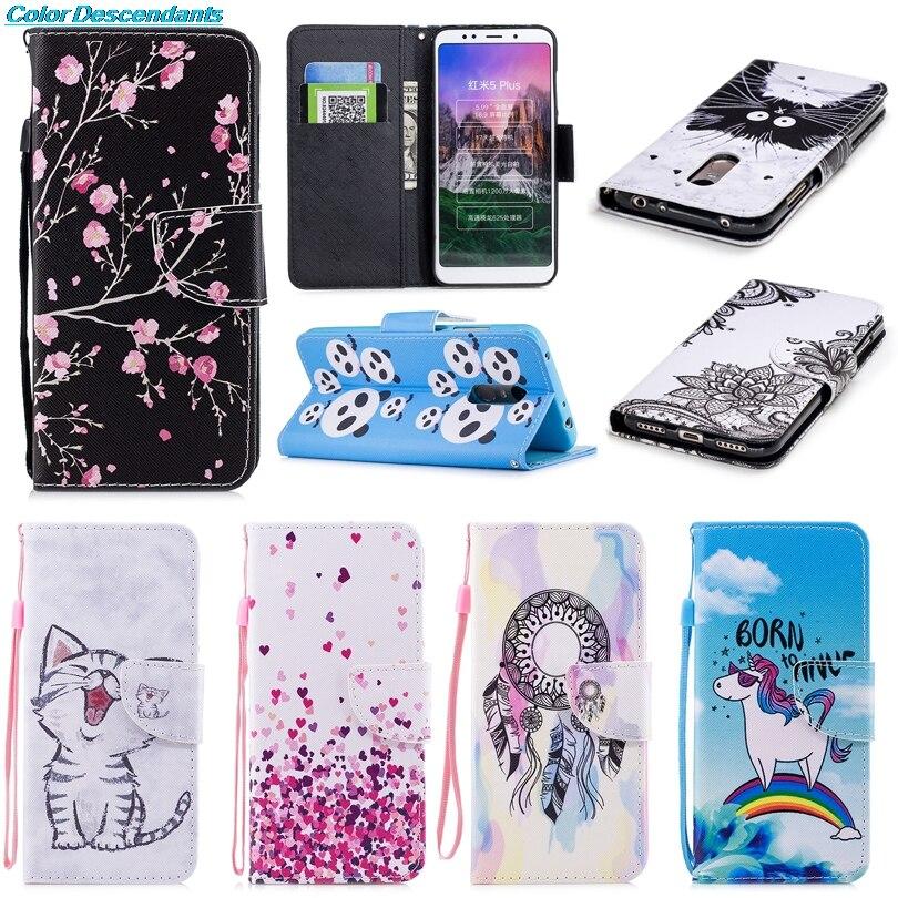 Capa For Xiaomi Redmi 5 Case Cover For Xiaomi Redmi 5 Plus Flip Luxury Leather Silicon Case Cover For Xiaomi Redmi5 Redmi 5 Plus