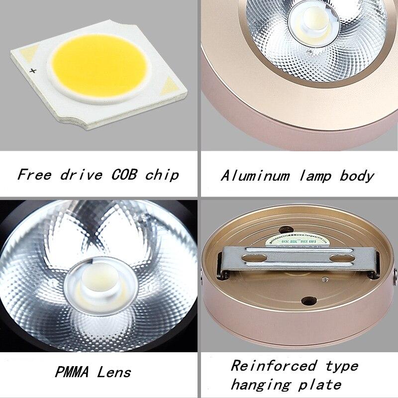 Downlights ultrafinos superfície montado levou downlight Cor do Corpo : Branco