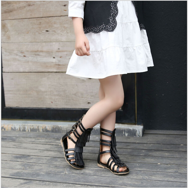 2faa916a8eccfd 2017 new summer baby girls gladaitor sandals children rome tall sandals  toddler gold sandals kids black