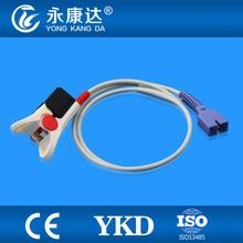 Mindray 512F /Nellcor Vitalert 1000 Adult  Finger Clip Spo2 Sensor,1m/7pin ,5pcs/lot