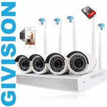 4CH 960P Wireless ip camera NVR home Security set 1.3MP Outdoor IR WIFI CCTV 4PCS network Camera video surveillance System