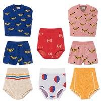 Kids Clothing Sets Bobo Choses 2018 Spring Summer Knitting Banana Pattern Vest Baby Girls Shorts Children