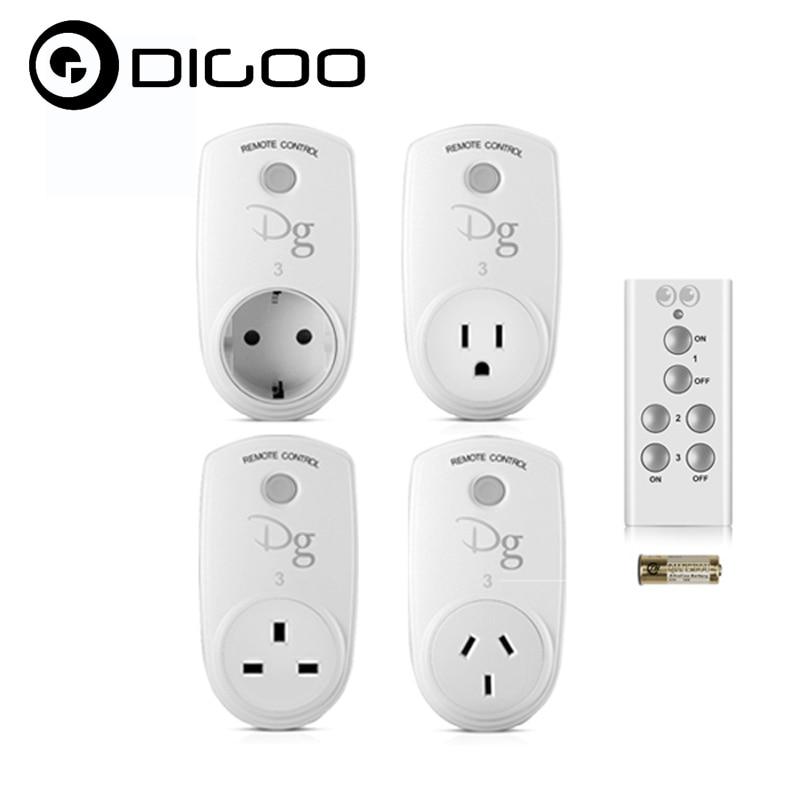 купить Digoo RC-13 Smart Home RF Wireless Remote Control Socket Power Plug Controller EU US UK AU for Smart Home Electronics по цене 1563.26 рублей
