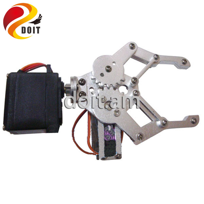 2 DOF Aluminium Robot Arm Clamp Claw Mount Kit+ Servo For robotic manipulator paw diy rc toy remote control