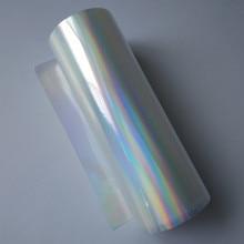 Holografische Folie Hot Stamping Folie Druk Op Papier Of Plastic Transparant Vlakte Regenbogen Hot Foil