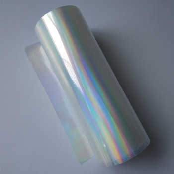 Holographic foil hot stamping foil press on paper or plastic transparent plain rainbows hot foil
