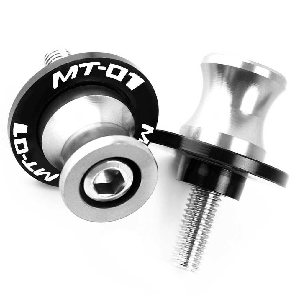 Untuk Yamaha MT-01 MT01 2004 2005 2006 2007 2008 2009 M6 Berdiri Sekrup Aksesoris Motor CNC Aluminium Swingarm Kelostidak Slider