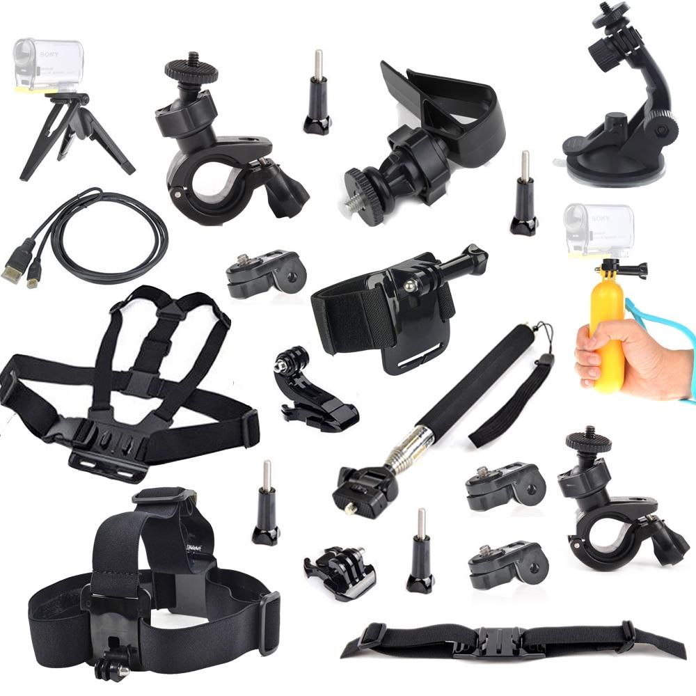Head Chest strap mount Accessories Kit Mount for Sony Action Cam HDR-AS15 AS20 AS30V AS100V AS200V X100V/W 4K