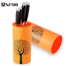 XITUO Tool holder knife Kitchen holder block orange stand sooktops tube shelf multifunctional bar outdoor BBQ Knife Sets New HOT(China)