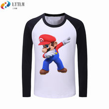589ea10da LYTLM primavera bebé niños ropa niños niñas de dibujos animados T camisas  de manga larga de algodón Dabbing camisas Super Mario .