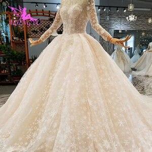 Image 3 - AIJINGYU nowoczesne suknie ślubne suknie podkoszulek letnie małżeństwo Vintage Brush suknie ślubne dla panny młodej
