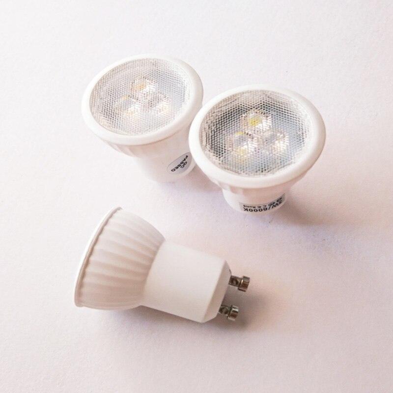 Super lumineux Mini 3W GU10 MR11 LED ampoule AC85-265V 35mm projecteurs LED blanc chaud blanc froid GU 10 lampe à LED SMD 2835