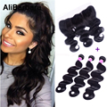Brazilian Body Wave With Frontal Closure 3 Bundles With Lace Frontal Body Wave Brazilian Hair Weave Bundles With 13x4 Frontal
