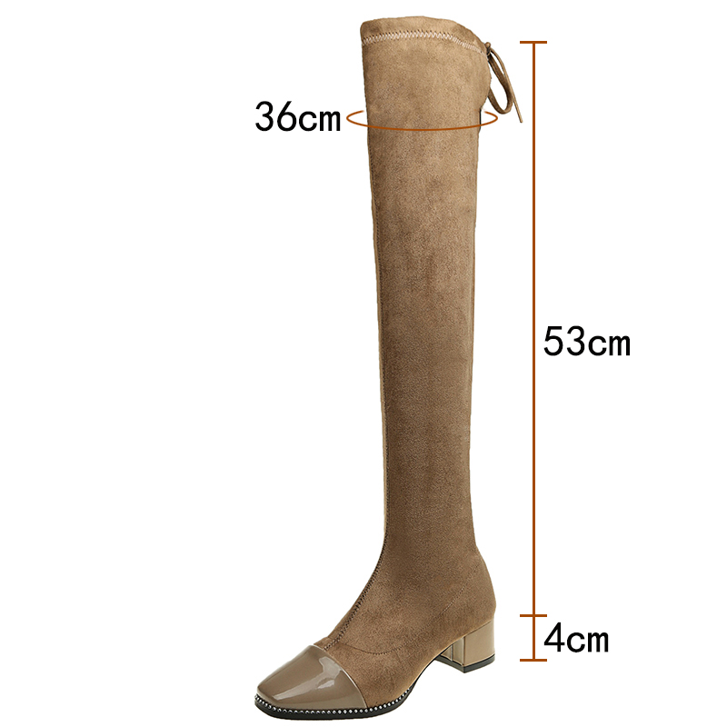 2018 Newest Fashion Over The Knee Boots Woman High Heel Long Boots Women Fashion Thigh Boots D50 2018 newest fashion over the knee boots woman round toe silver chain flat long boots women fashion thigh botas low heel shoes