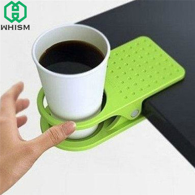 WHISM Plastic Water Cup Holder Office Home Organizer Drink Coffee Mug  Storage Rack Non Slip Cups