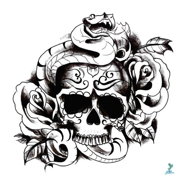 Yeeech Tatuajes Temporales Pegatina Para Hombres Mujeres Esqueleto