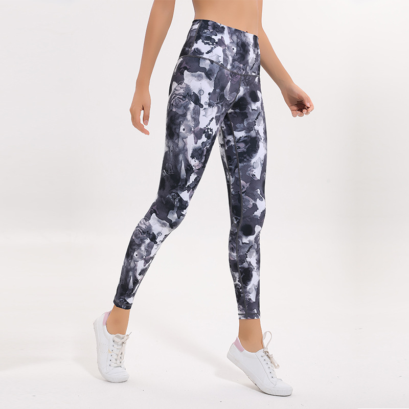 46c035024e Detail Feedback Questions about High Elastic Sexy Butt Lifting Sport Tights  High Waist Camouflage Gym Leggings Women Fitness Floral Print Running Yoga  Pants ...