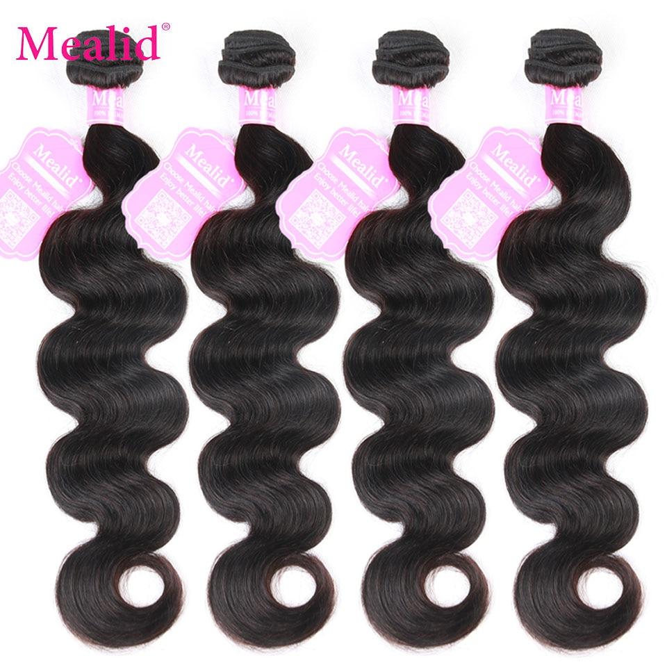 Mealid Brazilijos Plaukų pynimo paketai Kūno bangos plaukai 1 3 4 vnt. Non-remy natūralios spalvos 8-30 colių žmogaus plaukų priauginimas