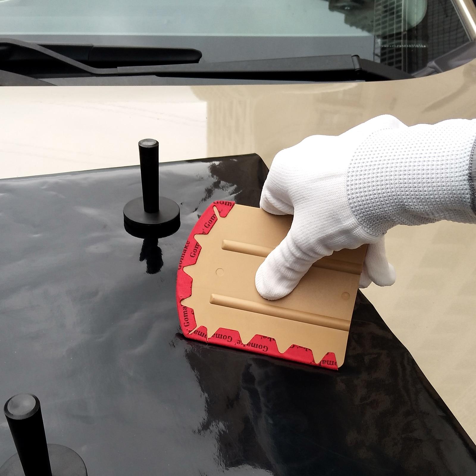 EHDIS Car Wrap Vinyl Microfiber Felt Squeegee Carbon Fiber Foil Film Car Wrapping Scraper Auto Sticker Glue Remover Accessories