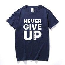 Never Give Up T shirt Salah Barcelona 4-0 Tee Fan Football T-shirt Premium Quality Cotton Streetwear Casual Tops