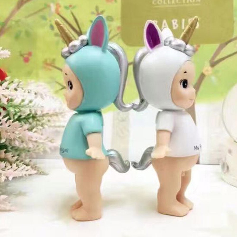 2pcs/set Sonny Angel Party Series Christmas Gifts Cute Seabed Animals Unicorn Dolls Action Figure Model Toys Kids Gift Oyuncak genuine kewpie doll sonny angel laduree pvc action figures kids toys dolls gifts for girls 6pcs set box packing free shipping