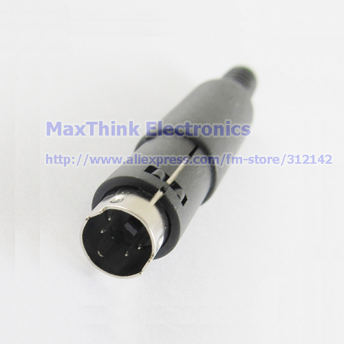 10pcs 3 Pin Mini DIN Mini-DIN Male Plug S-video Connector Adapter Plastic Handle