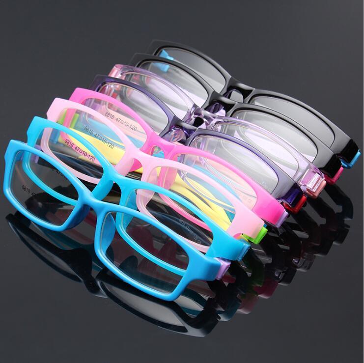 Brillenrahmen Bekleidung Zubehör Gut Myopie Kinder Rahmen Optische Brillen Abnehmbare Gummi Bein Kind Gläser Brillen Für Kinder Keine Schraube Sicher Tr Food Grade QualitäTswaren