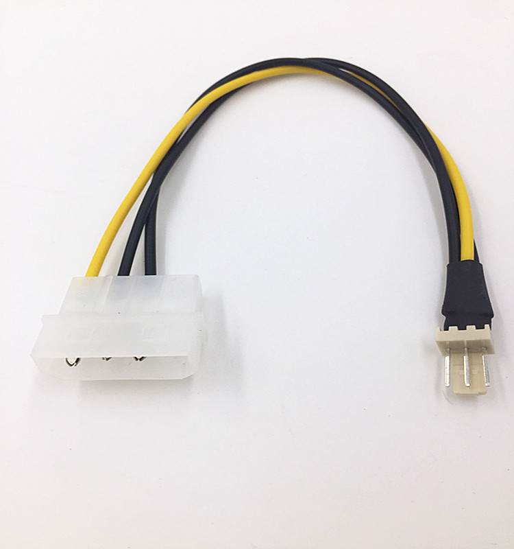 5x 4-Pin Molex//IDE to 3-Pin CPU//Case Fan Power Connector Cable Adapter 20cm RS