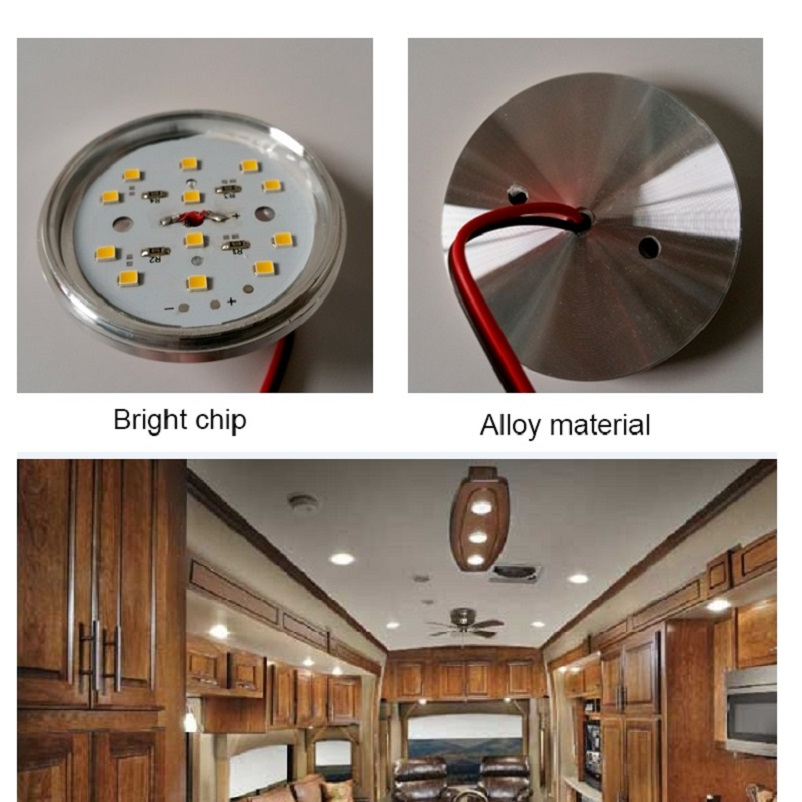 4pcs Cool White 12v DC LED Under Cabinet Lights Aluminum Cover Caravan RV  Interior Lighting Roof Kitchen/Wine Cabinet Lamps In Signal Lamp From  Automobiles ...