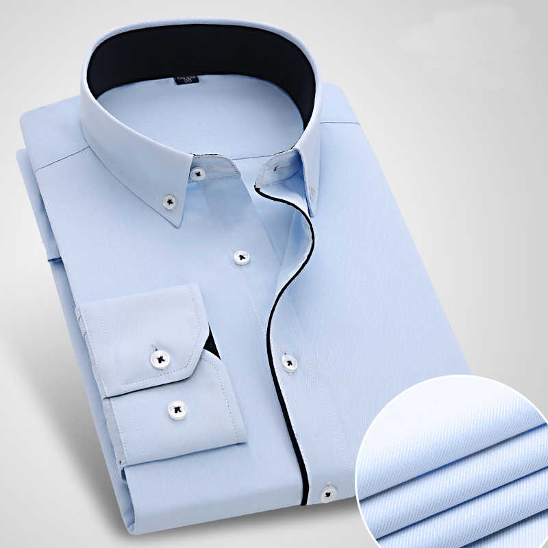 22e8ebc24618 ... New Arrival Striped Men's Dress Shirt Formal Business Social Slim Fit  Shirts Classic Long Sleeve Non ...
