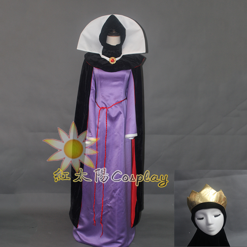 Snow White Evil Queen Stepmother Costume Dress Outfit Halloween Cosplay Adult