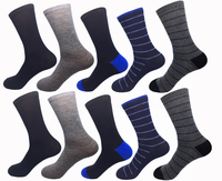 S0022 2017 Men's Cotton Casual Breathable Socks 10 Pair Pack Assorted Design Cheap Price for Pomotion