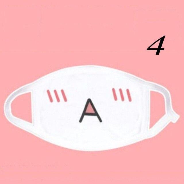 1PCS Kawaii Cute Unisex Women Men Anime Emotiction Mouth-muffle Kaomoji Anti-Dust Face Mask Safety Mouth Mask 4