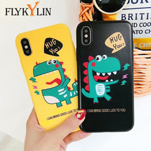 82ef38f978 FLYKYLIN Cute Dinosaur Phone Case For iPhone X Case For iphone 6S 6 7 8 Plus