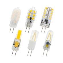 Универсальный AC DC 12 В мини G4 светодиодный светильник со стеклянной нитью, силиконовая лампа, светильник для дома, кухни, капота, светильник, люстра