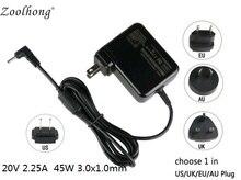 20V 2.25A three.0X1.0MM 45W for Lenovo Chromebook N21 ADLX45DLC3A laptop computer energy ac adapter charger with EU/US/UK/AU plug