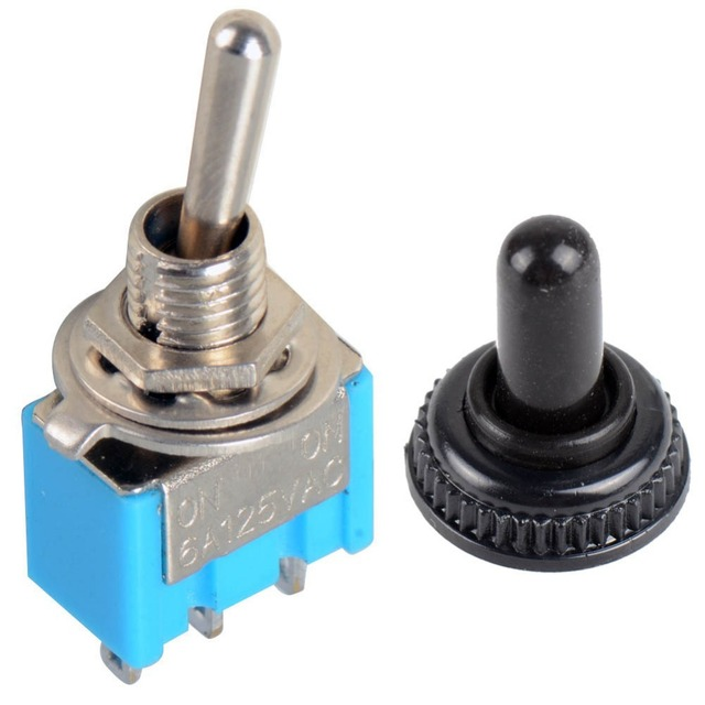 Hot Selling Waterproof Switch Cap On-On Miniature Toggle Switches 6A 125V VE190 P0.4
