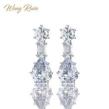 Wong-boucles d'oreilles en argent Sterling 925, créées en argent Sterling, pierres précieuses, Moissanite, goutte goutte, diamants, bijoux fins, vente en gros, livraison directe