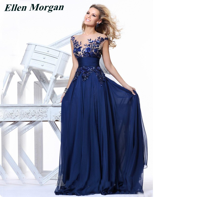 Popular Royal Blue Chiffon Dress-Buy Cheap Royal Blue Chiffon ...