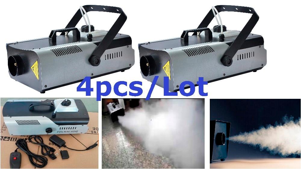 4xLot Factory Price 1500W Fog Machine With Remote Wire control Smoke Machine Stage DJ Disco Effect Light Equipment Free Shipping цена 2017