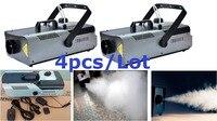 Mejor Máquina de niebla 4xLot a precio de fábrica 1500W con control remoto de cable máquina de humo etapa DJ equipo de luz de efecto disco envío gratis