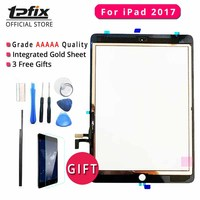 TPFIX Touch Screen Digitizer For iPad 2017 Glass Panel Grade AAAAA Front Assembly A1822 A1823 Ecran Tactil Flex Cable Tools