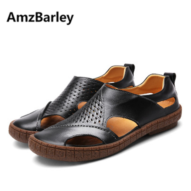AmzBarley Men Shoes Sandals Flats Shoe Footwear Casual Fashion Summer Leisure Outdoor Beach Walking Plus Size High Quality New gram epos men casual shoes top quality men high top shoes fashion breathable hip hop shoes men red black white chaussure hommre
