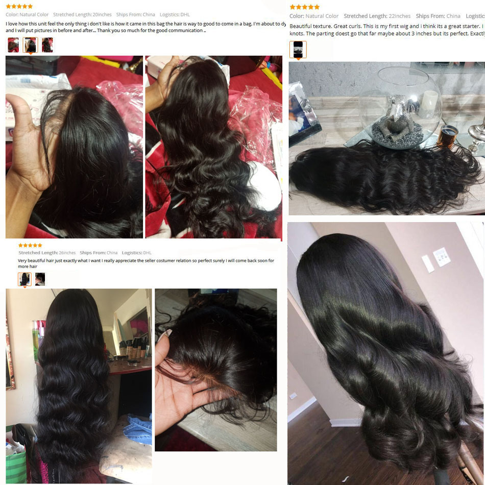 HTB1dZPBafb2gK0jSZK9q6yEgFXa5 4x4 Closure Wig Brazilian Body Wave Lace Closure Human Hair Wigs Pre Plucked With Baby Hair UEENLY Remy Hair Closure Wigs