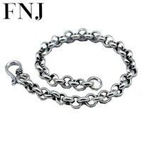 17-21 см ссылка браслет-цепочка 925 серебро 5-6.5 мм толщина 100% S925 Solid тайский серебро мужские браслеты для женщин ювелирные изделия