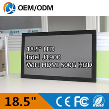 Fanless and noiseless 18.5″ all in one pc desktop computer with Inter j1900 1.99GHz Industrial panel pc Resolution 1366×768