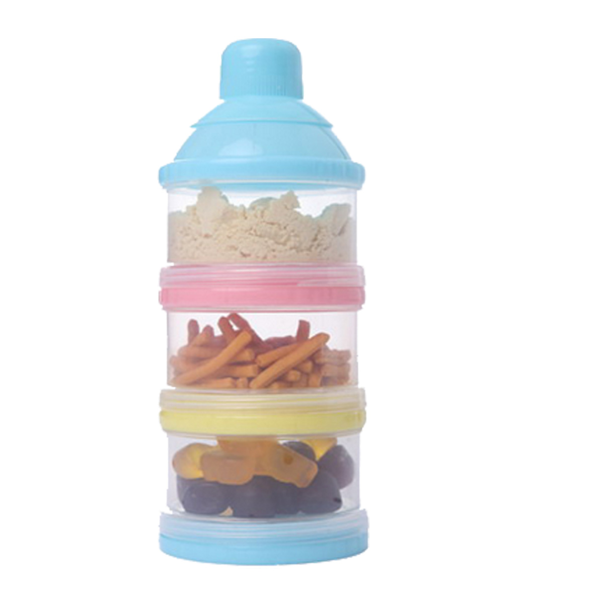 1 Set 3 Layer Portable Container Infant Food Milk Feeding Powder Dispenser Bottle Baby Travel Storage Box Products
