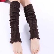 High Quality Ladies Women Winter Leg Warmers Girl Gaiters Knit Warm Boot Cuffs Over Knee Leggings