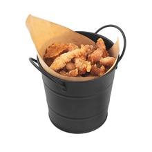 Stainless Steel Double Ear French Fries Baskets Food Bucket Dinnerware Tableware Pail Multi – Purpose Baskets Snack Barrel New