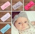1 unids niños Tie Knot venda de punto de algodón elástico de los bebés Toddler venda del pelo turbante diadema bandeau bebe